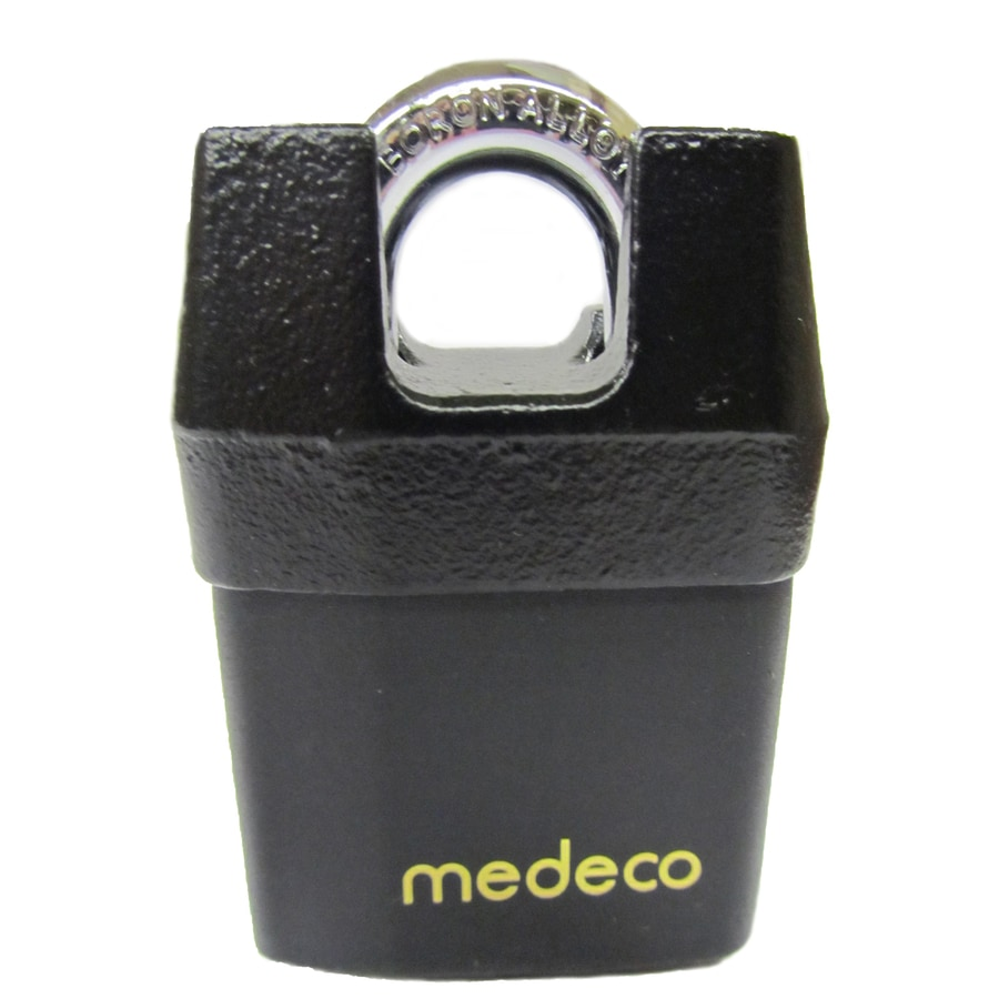 Medeco Brass Shackle Keyed Padlock
