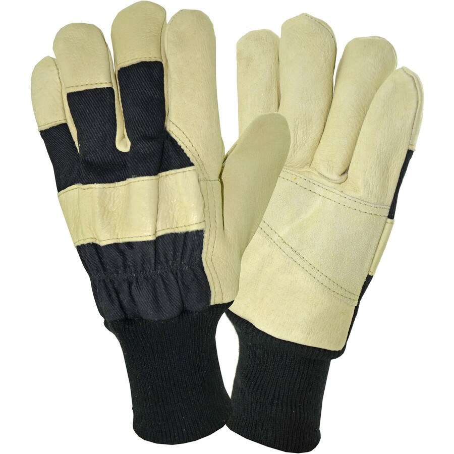 West Chester Large Men's Polyester Leather Palm Multipurpose Gloves