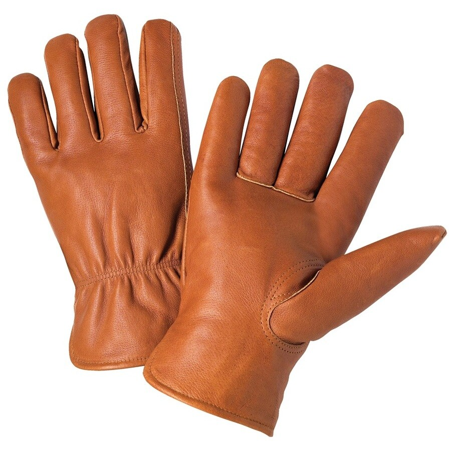 West Chester Medium Male Brown Leather Insulated Winter Gloves