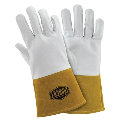 Ironcat White Gold Welding Gloves At Lowes Com