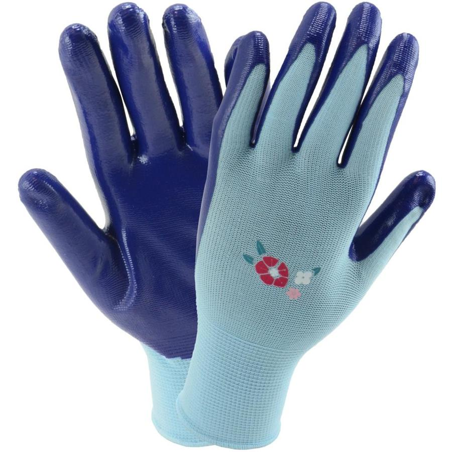 Style Selections Women's One Size Fits All Blue Polyester Garden Gloves