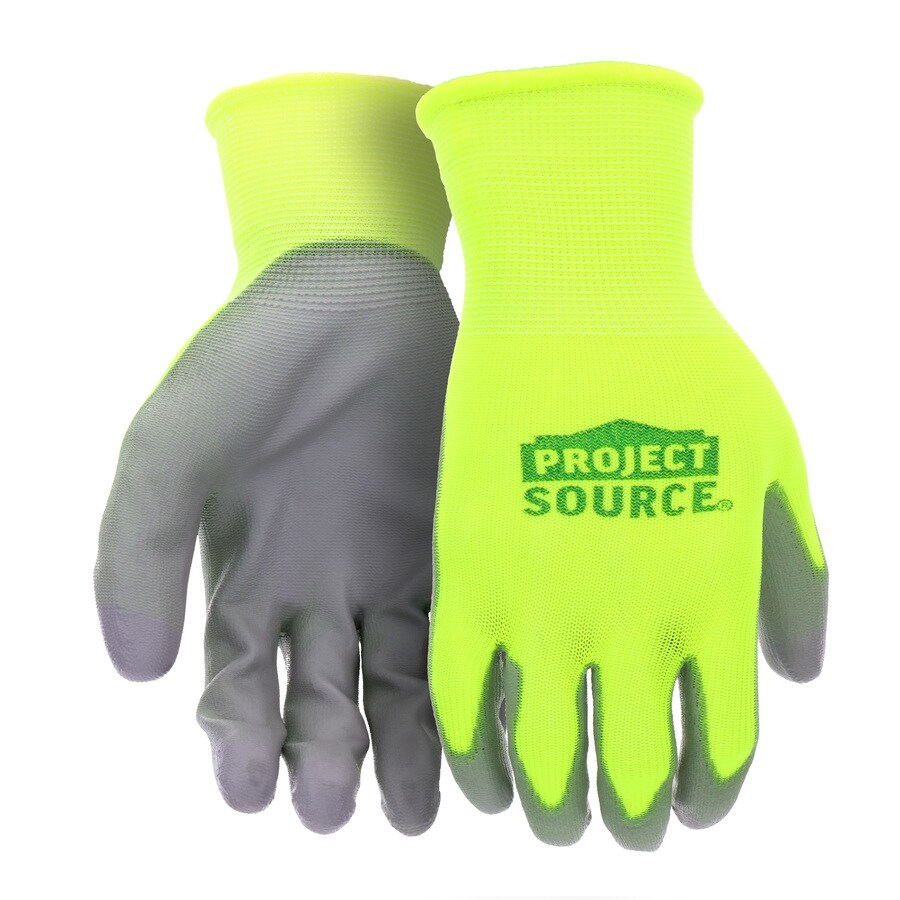 Blue Hawk Large Male Polyester Polyurethane Dipped Work Gloves