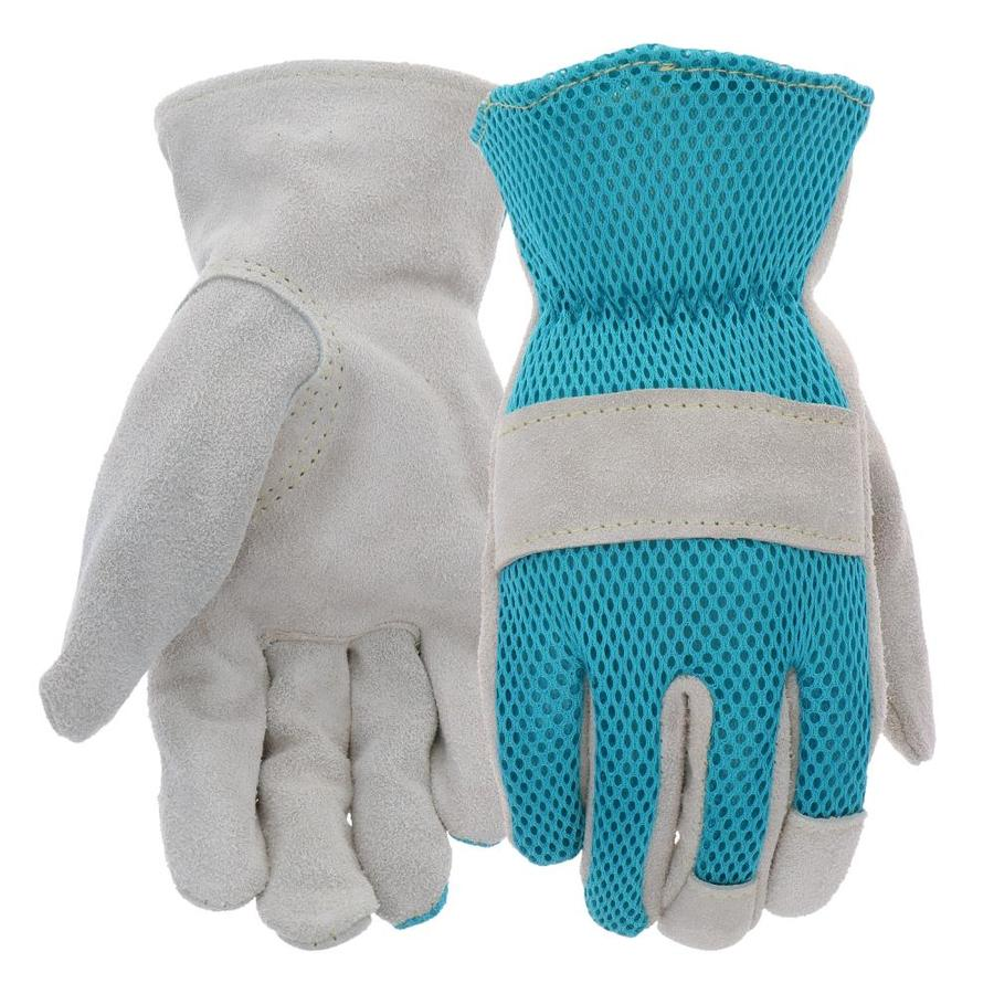 Style Selections Women's Medium Teal/Grey Polyester Garden Gloves