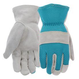 style selections womenu0027s medium tealgrey polyester garden gloves