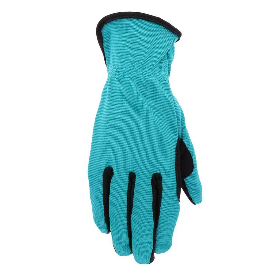 Style Selections Women's Medium Teal/Black Nylon Garden Gloves