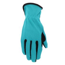 Nice Style Selections Womenu0027s Medium Teal/Black Nylon Garden Gloves