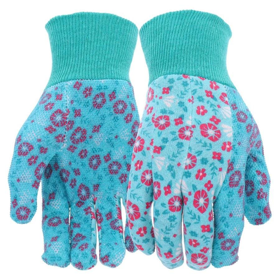 Style Selections Women's One Size Fits All Multicolor Polyester Garden Gloves