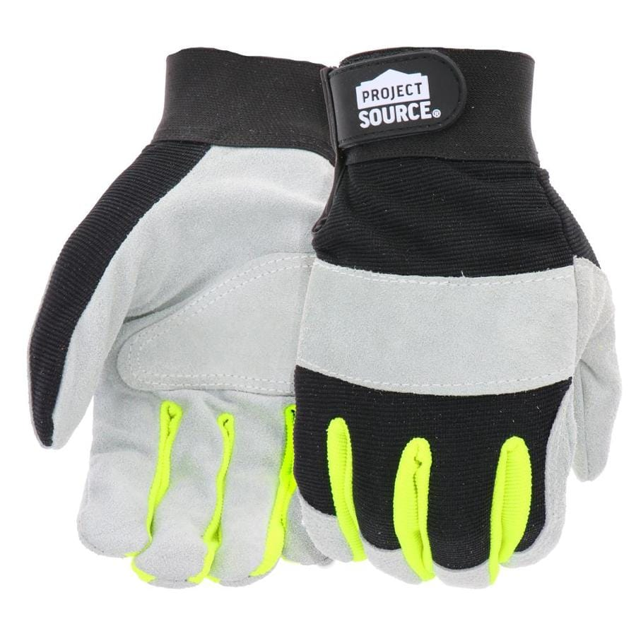 Blue Hawk XX-Large Male Polyester Leather Palm Work Gloves