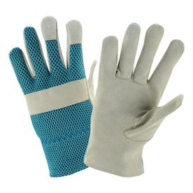 Attirant Style Selections 2 Pack Womenu0027s Blue/White Leather Garden Gloves