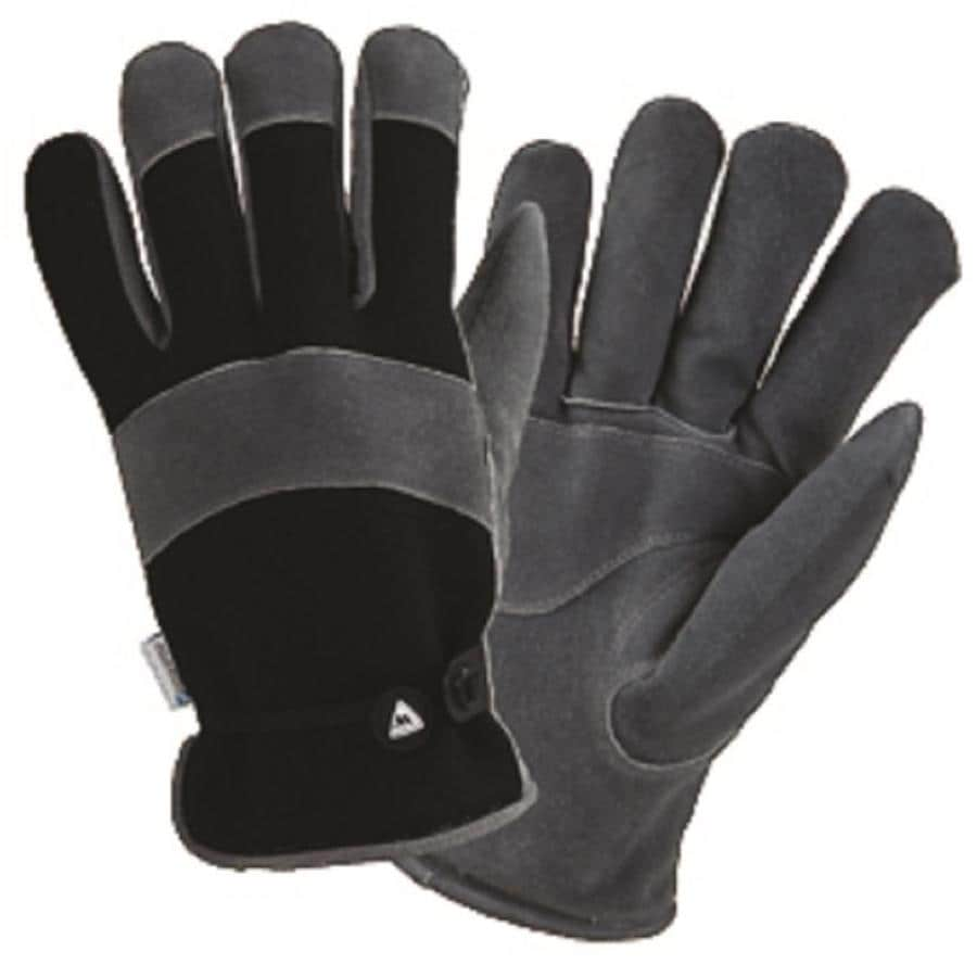West Chester Medium Male Black And Gray Leather Insulated