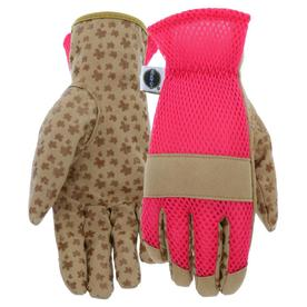 Miracle Gro Womenu0027s Large Pink/Tan Leather Garden Gloves