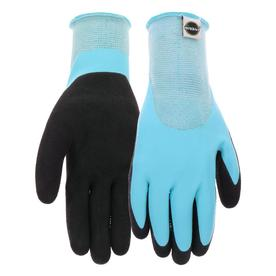 Miracle Gro Womenu0027s Medium Blue/Black Rubber Garden Gloves