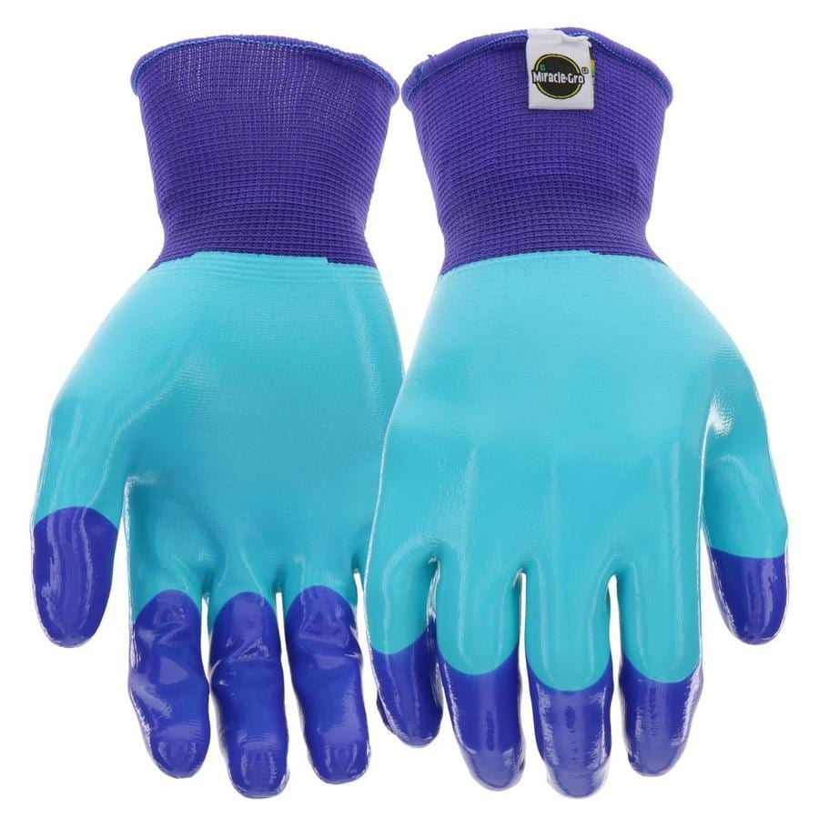 Miracle Gro Women S Large Purple Blue Rubber Garden Gloves