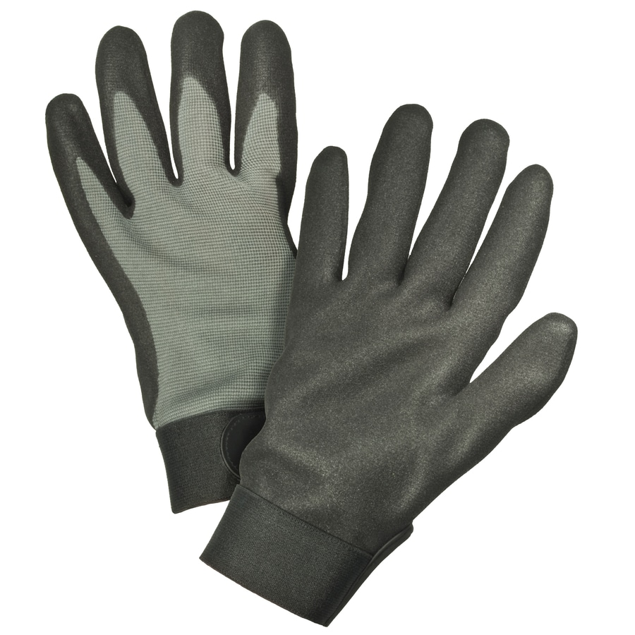Blue Hawk Medium Men's Rubber Work Gloves