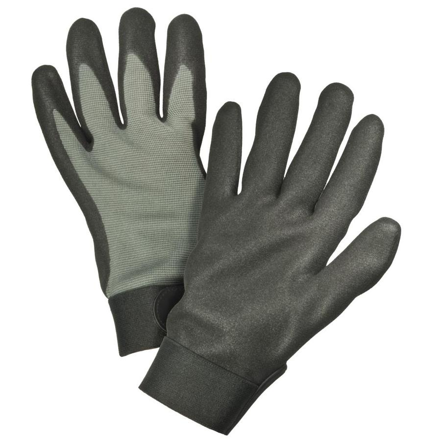 Leather work gloves drawstring - Blue Hawk Large Mens Polyester Nitrile Dipped Work Gloves
