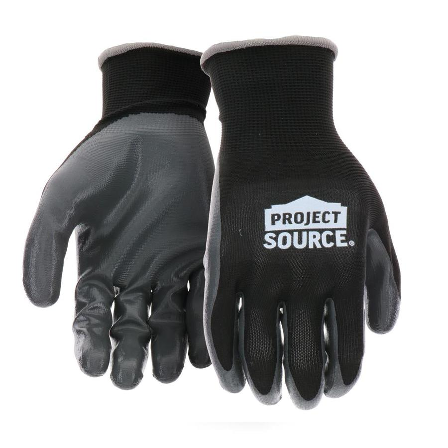 Blue Hawk Large Men's Polyester Nitrile-Coated Work Gloves