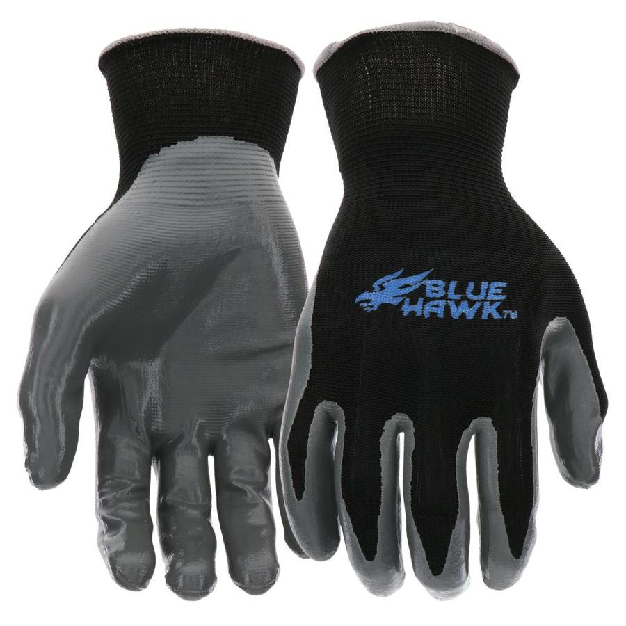 Blue Hawk Medium Men's Polyester Nitrile-Coated Work Gloves
