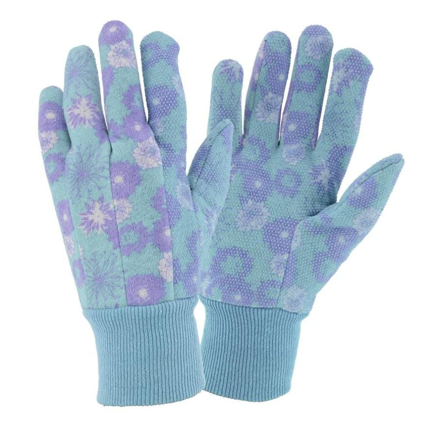 Style Selections Women's Large Floral Poly and Cotton Garden Gloves