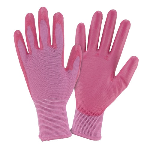 Style Selections 3-Pack Women/'s Large Pink Polyester Garden Gloves Seamless