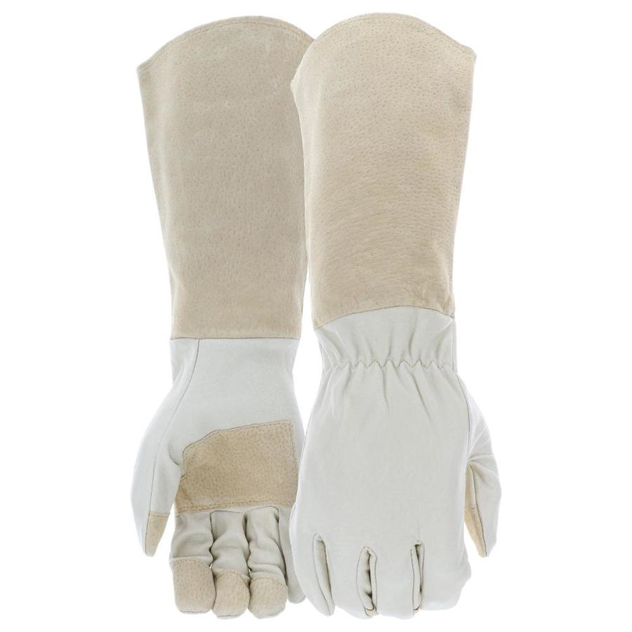 Leather work gloves sale - Style Selections Rose Pruning Gauntlet Large Unisex Leather Palm Work Gloves