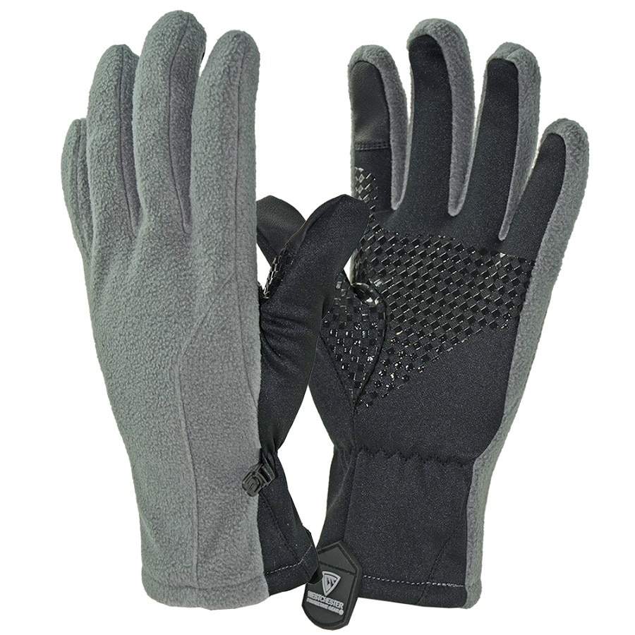 West Chester Large Unisex Gray Polyester Insulated Winter Gloves