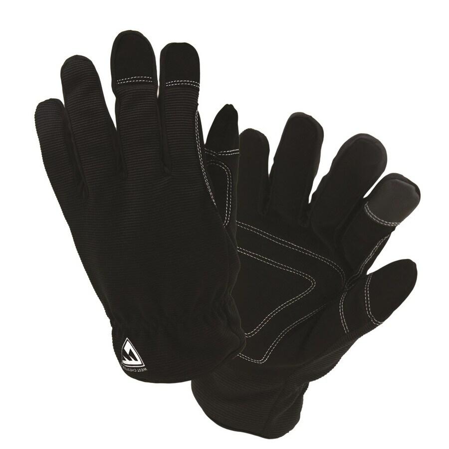 West Chester Medium Unisex Black Polyester Insulated Winter Gloves