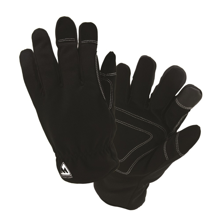 West Chester X-large Unisex Black Polyester Insulated Winter Gloves