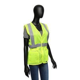 68a71f5b9d West Chester Medium Hi-vis Green Polyester Reflective Safety Vest
