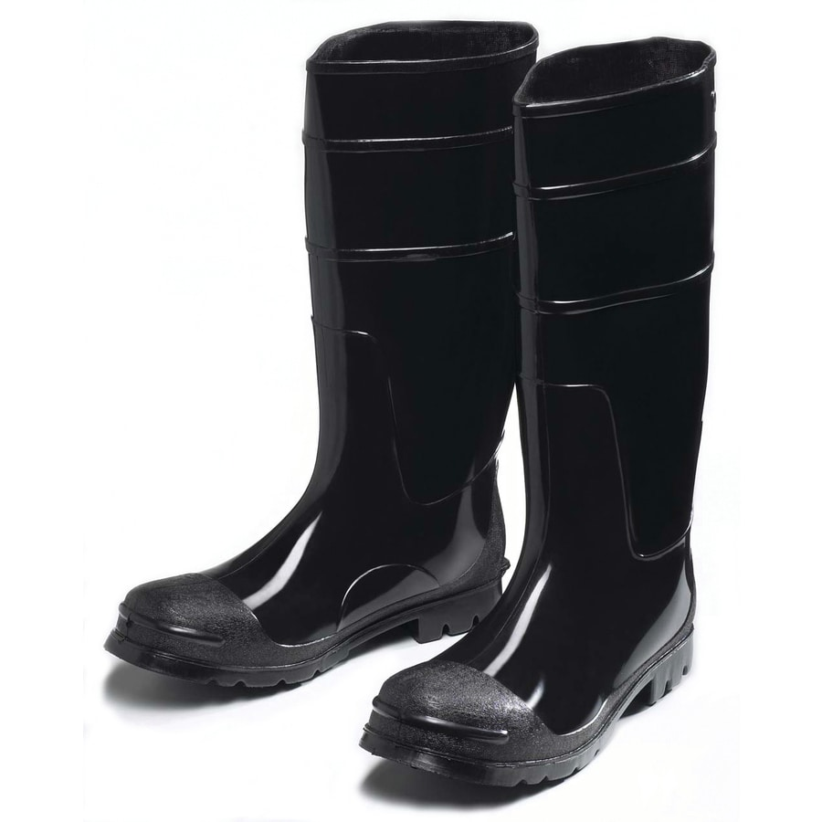 West Chester Lined Yellow Black Rubber Boots Safety