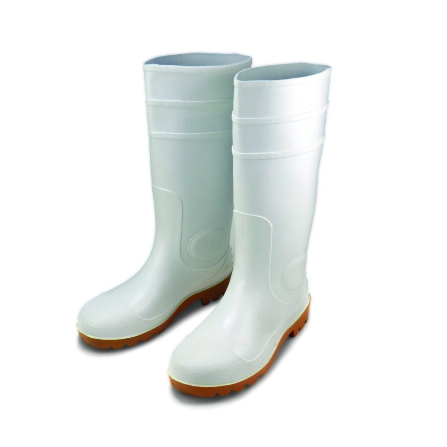 West Chester White Rubber Boots (10)