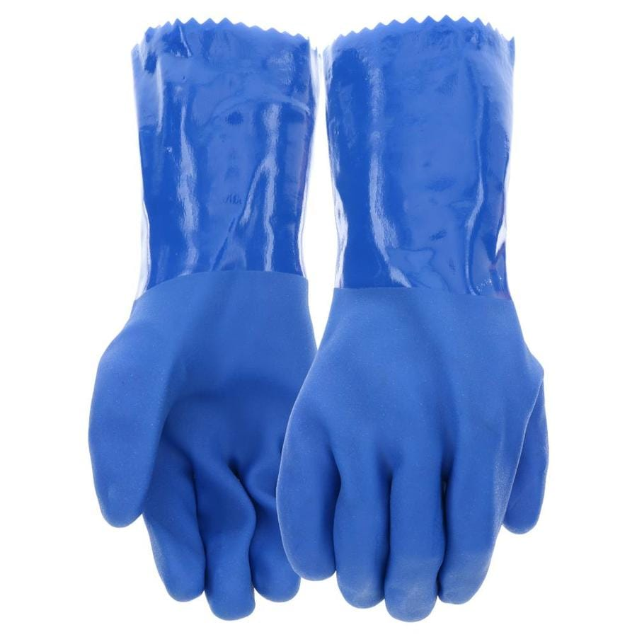 Blue Hawk Large Men's Rubber Chemical Gloves