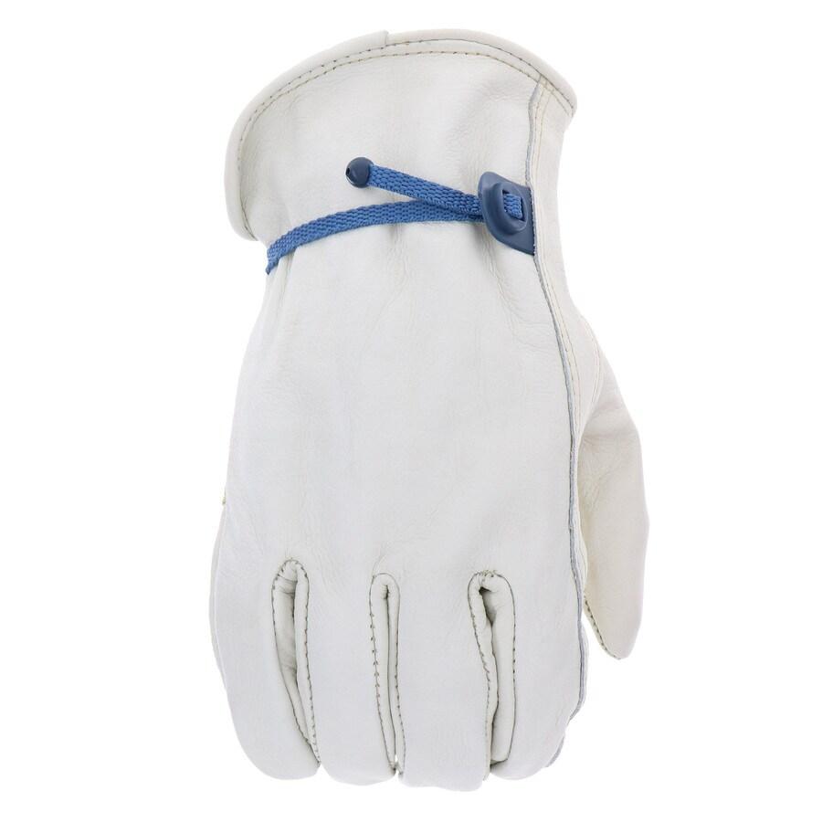 Blue Hawk Medium Unisex Leather Palm Work Gloves