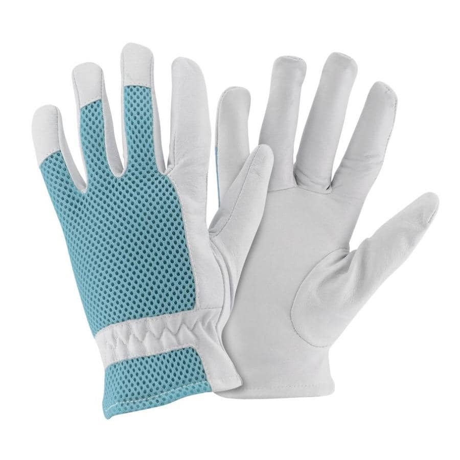 Style Selections Women's Small White Leather Garden Gloves