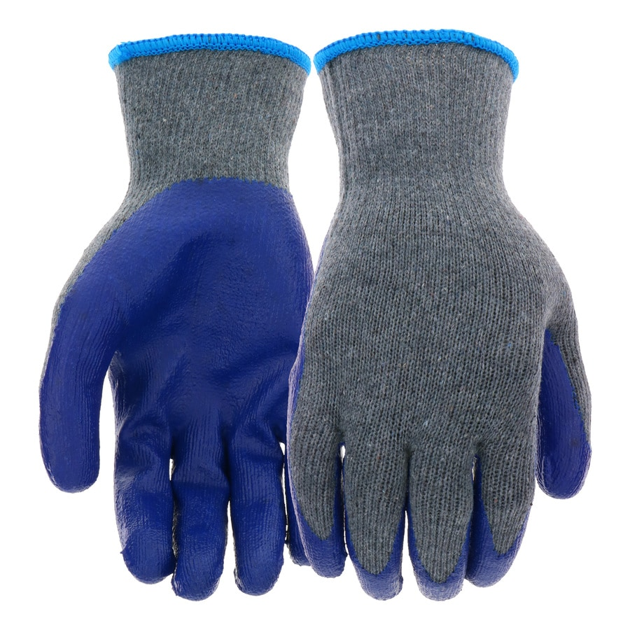 Leather work gloves best price - Blue Hawk 8 Pack Large Unisex Poly Cotton Latex Coated Multipurpose Gloves