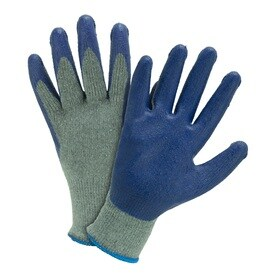 Blue Hawk 8-Pack Large Unisex Poly/Cotton Latex Dipped Multipurpose Gloves