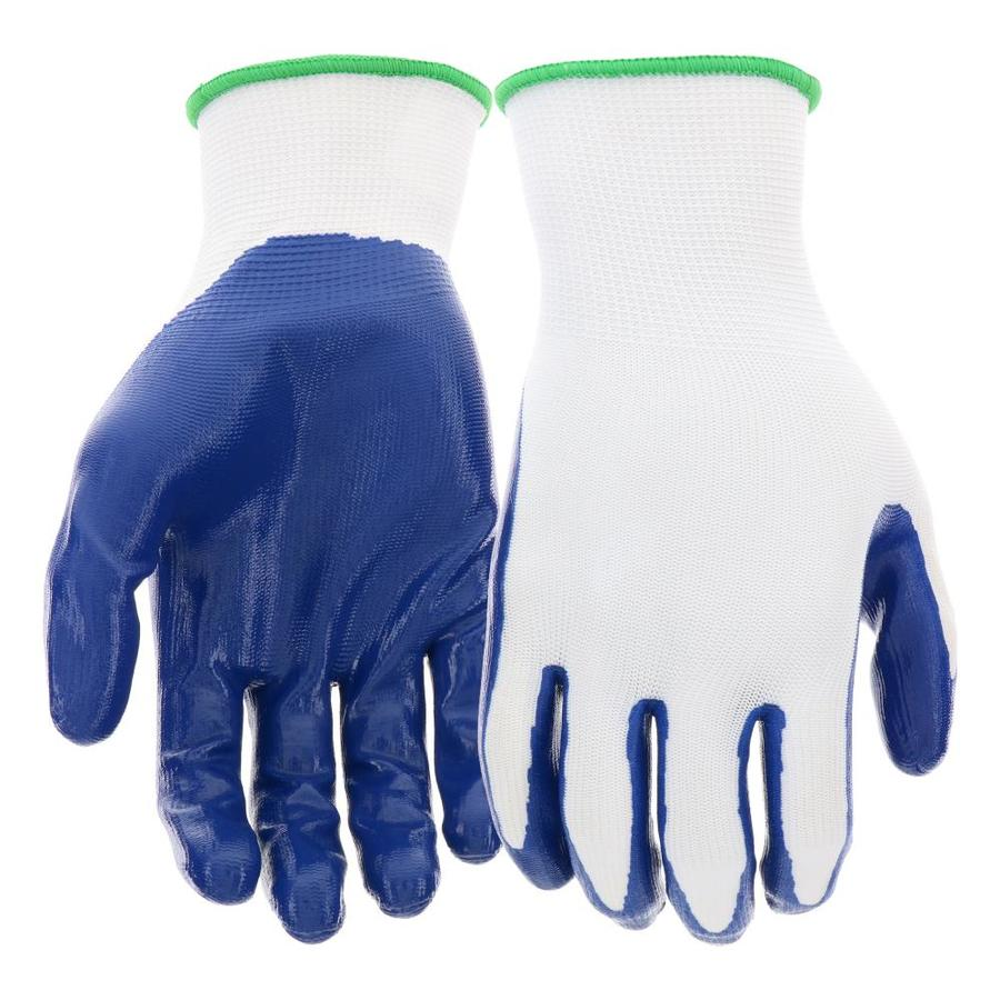 Blue Hawk 10-Pack Large Unisex Polyester Nitrile-Coated Multipurpose Gloves