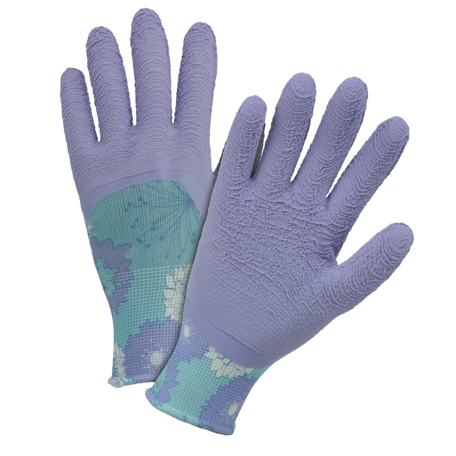 Style Selections One Size Fits All Ladies Polyester Latex-Coated Multipurpose Gloves