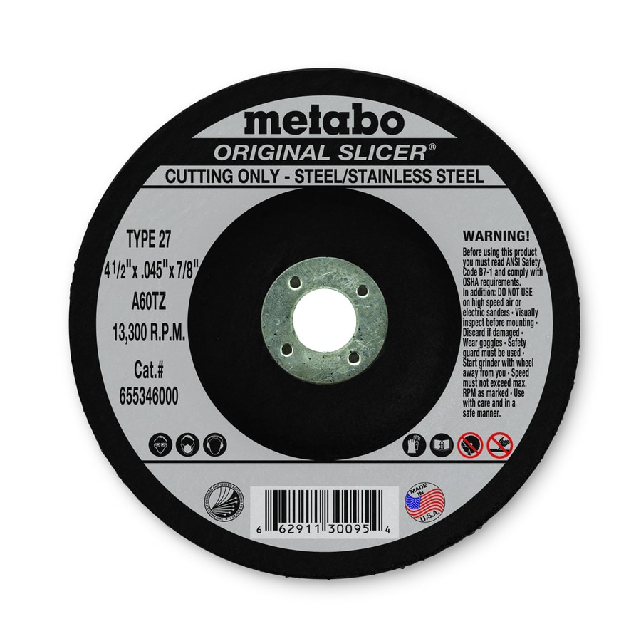 Metabo Aluminum Oxide 4-1/2-in Cutting Wheel