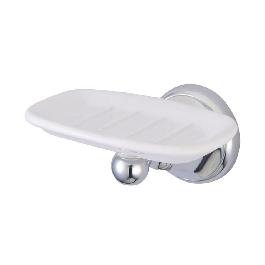Allied Brass DT-62 Dottingham Collection Wall Mounted Soap Dish Satin Chrome