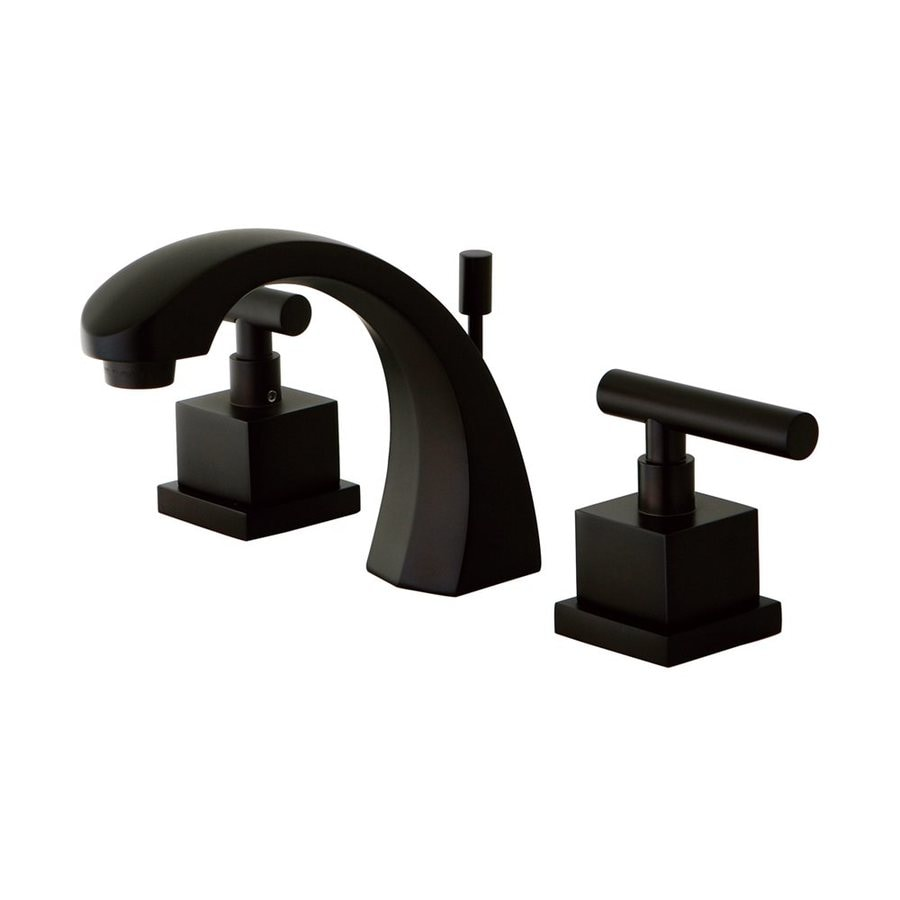 Elements of design claremont oil rubbed bronze 2 handle widespread bathroom sink faucet with for Elements of design bathroom faucets