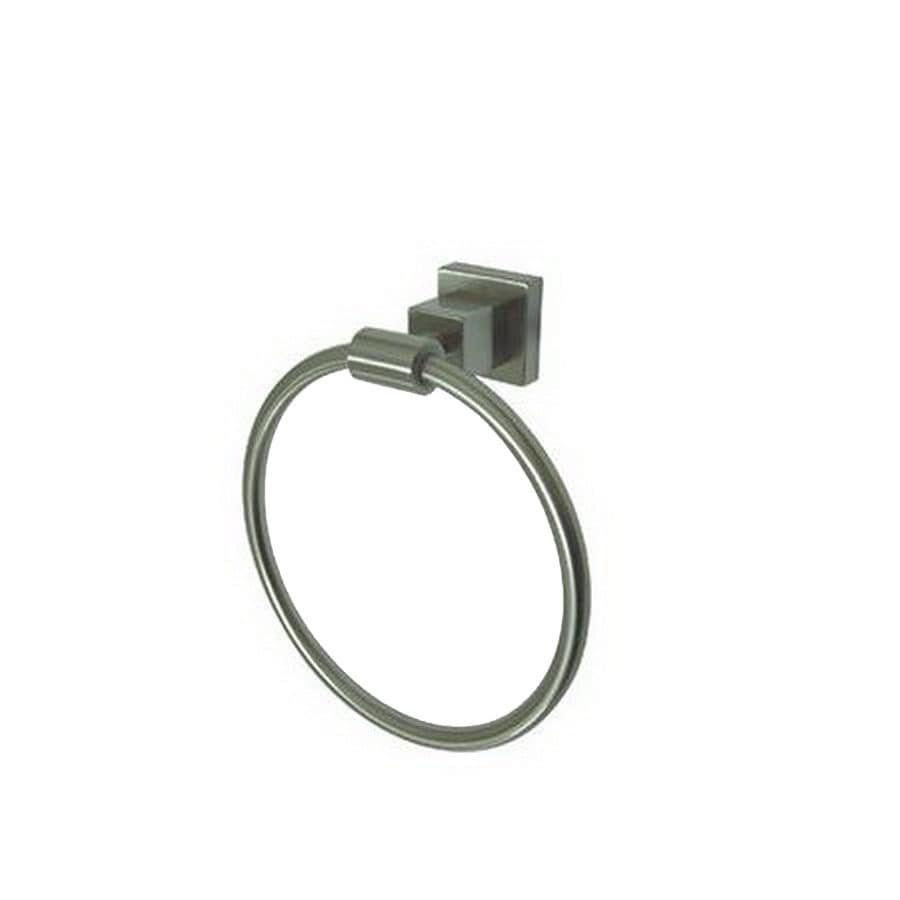 Elements Of Design Claremont Brushed Nickel Wall Mount Towel Ring In The Towel Rings Department At Lowes Com