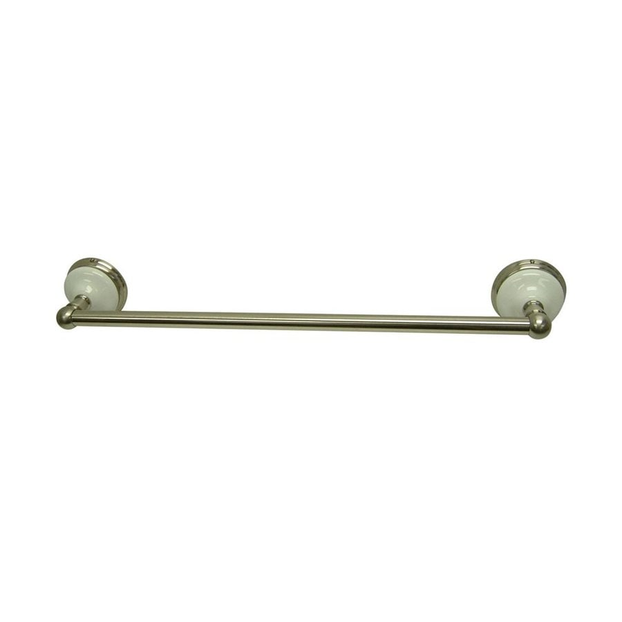 Elements Of Design Victorian 18-in Satin Nickel Wall Mount Single Towel Bar At Lowes.com