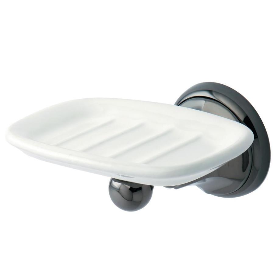 Kingston Brass Water Onyx Black Stainless Steel Brass Bathroom Coordinate  Set