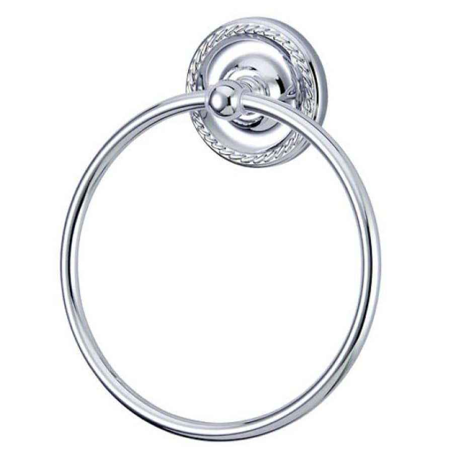 Kingston Brass Laurel Polished Chrome Wall-Mount Towel Ring