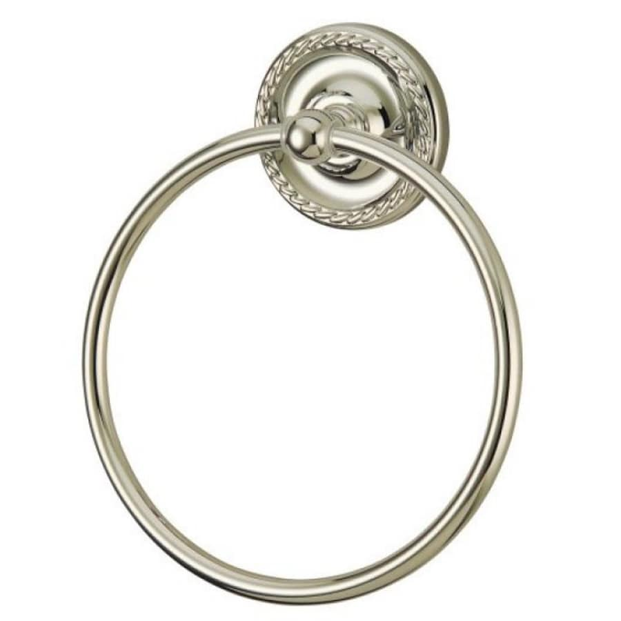 Kingston Brass Laurel Satin Nickel Wall-Mount Towel Ring