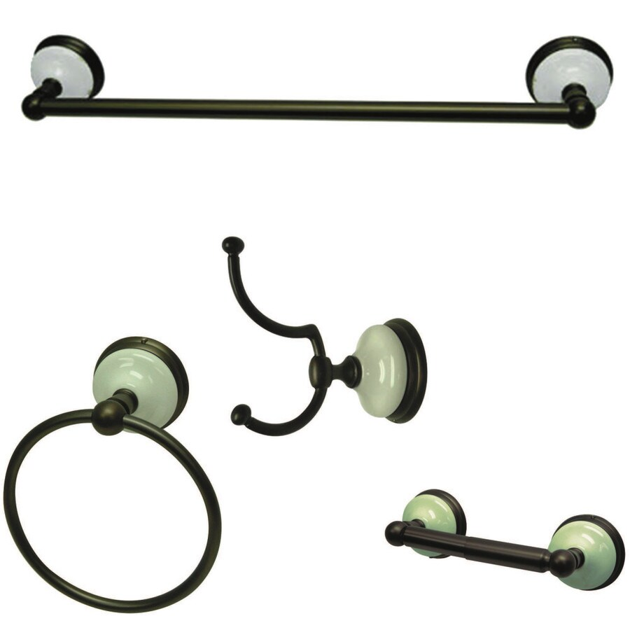 Kingston Brass 4-Piece Victorian Oil-Rubbed Bronze Decorative Bathroom Hardware Set