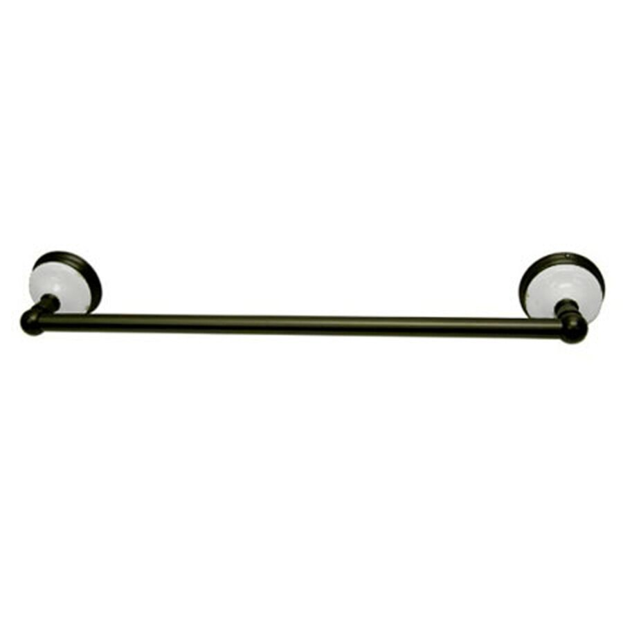 Kingston Brass Victorian Oil-Rubbed Bronze Single Towel Bar (Common: 24-in; Actual: 24-in)