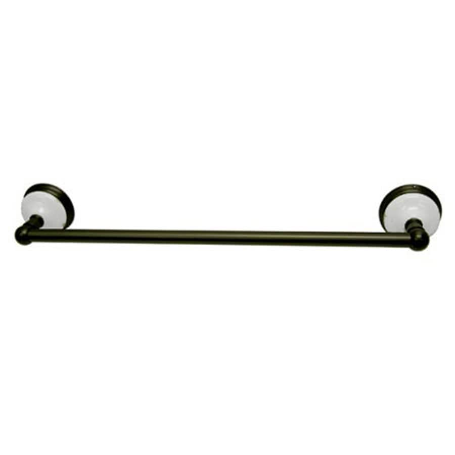 Kingston Brass Victorian Oil-Rubbed Bronze Single Towel Bar (Common: 18-in; Actual: 18-in)