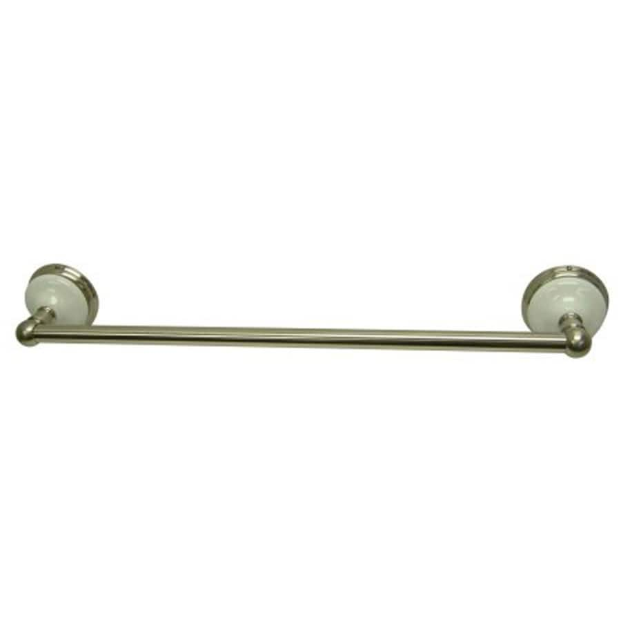 Kingston Brass Victorian Satin Nickel Single Towel Bar (Common: 18-in; Actual: 18-in)