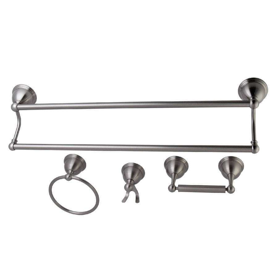 Kingston Brass 4-Piece Restoration Satin Nickel Decorative Bathroom Hardware Set